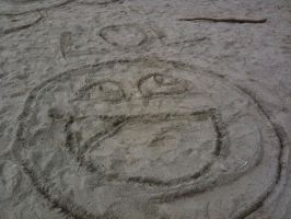Awesome face sandart by TechieWidget