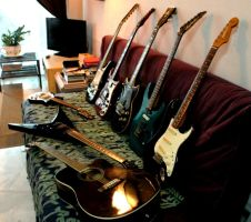Living Room Guitars by VinVagia