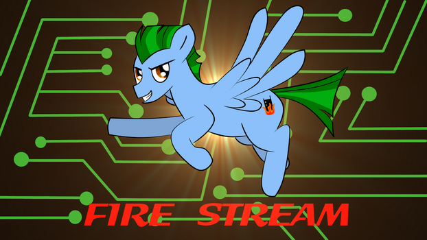 Fire Stream (with Background) by HappyCamperCreations