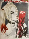 Harley Quinn licking blood by ebas
