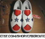 No More Heroes - Santa Destroy Custom Vans by CrimsonVip3r