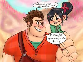 Ralph and Vanellope by tLRoH