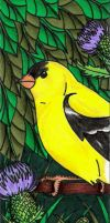 Goldfinch Bookmark by Shara-Moonglow