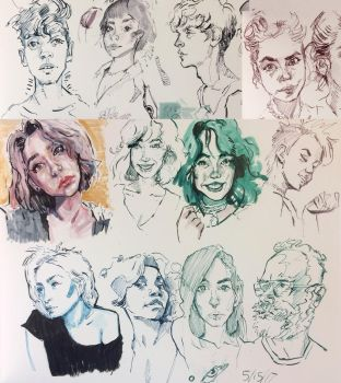 pen sketches by Jastyoot