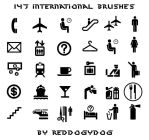 147 international brushes by reddoggydog