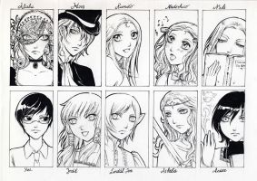 some of my characters by lilie-morhiril