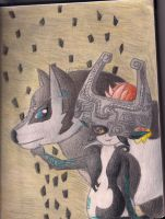 Midna and Wolf Link: Teamwork by HyruleandHogwarts