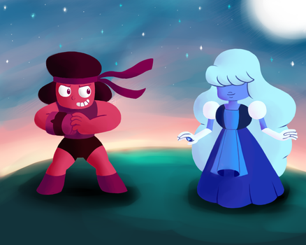 Ruby and Sapphire Steven Universe by Gallade77