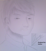 Drawing of a Boy in My Class by Devious-Archangel