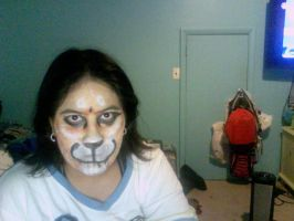 lion face paint by WerewolfProtecter