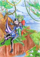 (YJ) BeastBoy and Raven by Mariya14