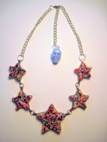 Candy Resin Star Necklace by slinkskull