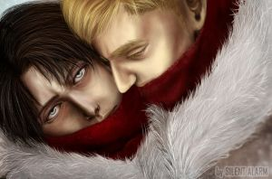 Erwin Smith x Levi [winter uniform] by Silent-Alarm-ororo