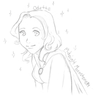 Pottermore Sketch -Odette- by Ukeaco