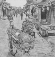 China Street Scene by WonderlandNinja