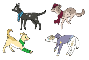 Winter dogs adoptable- 1 left by CaptainDashund