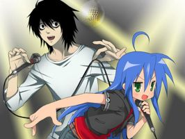 Death Note and Lucky Star by RedGummiBear