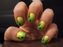 St. Patty's Day Nails by lettym