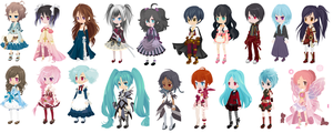 Free Adoptables Collection set 13 -CLOSED- by RainAdoptables