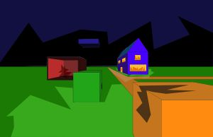 House Burning in Box Town by Zach76