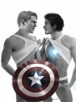 Tony Stark x Steve Rogers by SasoriScorpion