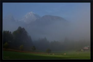 Morning fog at Schoenau by deaconfrost78