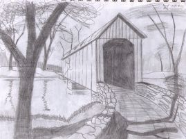 Covered Bridge by Ranchcroutons