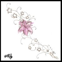 side tattoo design by A-T-G-4
