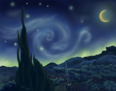 Van Gogh Starry Night by reaper61