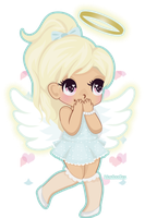 Chibi Angel by KFoxDoodles