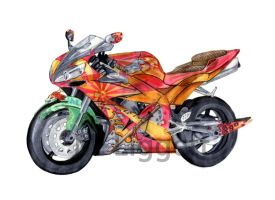 Japanese Motorcycle ORIGINAL by 0AngelicWings0