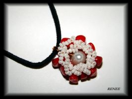 Coral flower pendant by jasmin7