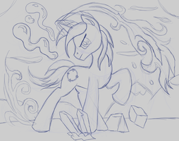 Commission:  Fifth Element Shadowbox Sketch by The-Paper-Pony