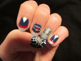 Thor Nails by QueenAliceOfAwesome