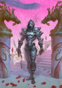 [wow]shadowcraft armor bloodelf rogue by linsc