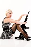 rockabilly pinup and AR-15 by The--Oracle