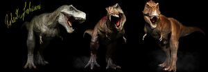Scotty the T-REX, The Destroyer, Peck the Rex by robertfabiani