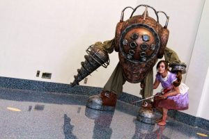 BioShock - Big Daddy and Little Sister by BrianFloresPhoto