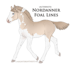 A2812 Nordanner Foal Design Holder by pony-bones