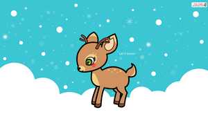 Reindeer Wallpaper by Ha-nee
