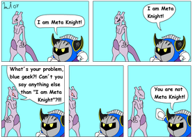 I am Meta Knight by Kurvos