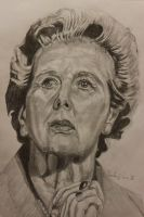 Margaret Thatcher by CharlieJacksonPaine3