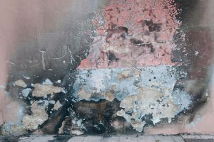colorful cracked wall by rainbows-stock