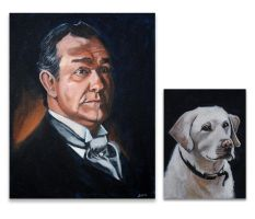 Portrait of Lord Grantham w/Pharaoh by Bewheel