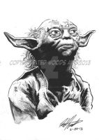 Headshot--Yoda by tedwoodsart