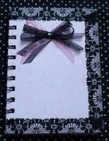 Black lace and pink notebook by KasumiDark