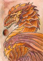 ACEO Dragon 41 by rachaelm5