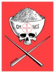 Genetic modified rice DANGER by Latuff2