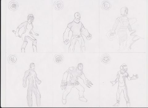 Avengers Alliance NEW character designs by iamre
