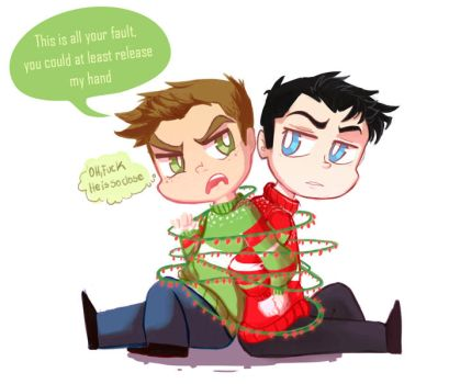 destiel xmas by Naomi-shan